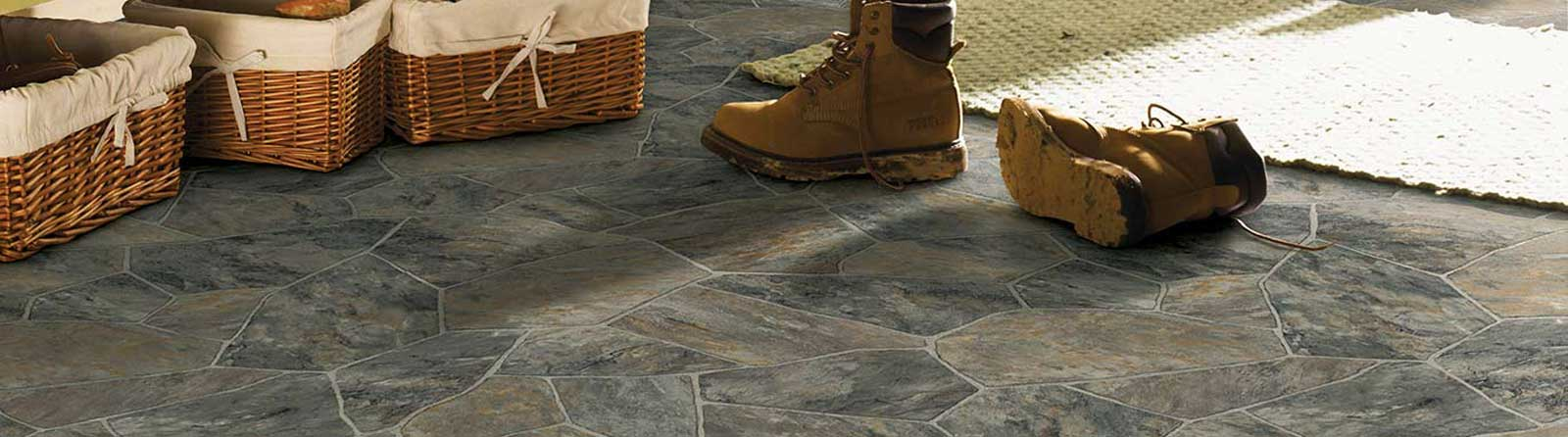 Stone tile laminate flooring